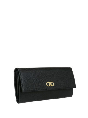 Salvatore Ferragamo: wallets & purses online - Gancini continental leather wallet