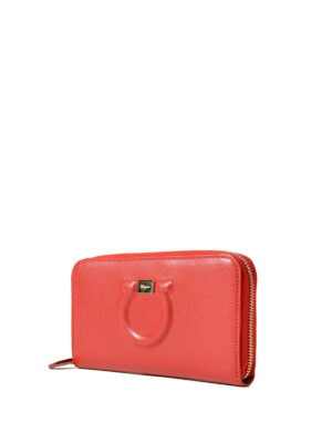 Salvatore Ferragamo: wallets & purses online - Gancini leather continental wallet
