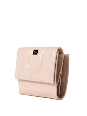 Salvatore Ferragamo: wallets & purses online - Gancini leather french wallet