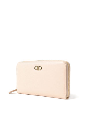 Salvatore Ferragamo: wallets & purses online - Gancini macadamia leather wallet