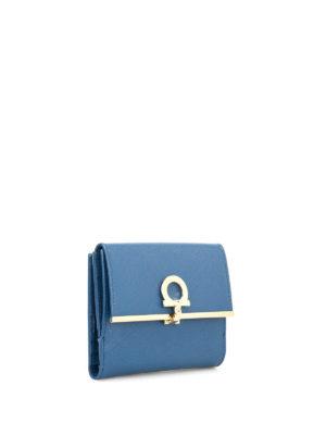 Salvatore Ferragamo: wallets & purses online - Gancio detail saffiano wallet