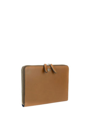 Salvatore Ferragamo: wallets & purses online - Leather documents holder with zip