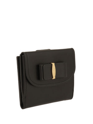Salvatore Ferragamo: wallets & purses online - Leather Vara small wallet
