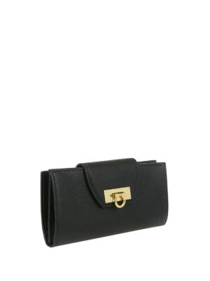 Salvatore Ferragamo: wallets & purses online - Leather wallet with flap closure