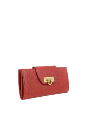Salvatore Ferragamo: wallets & purses online - Leather wallet with flap closure