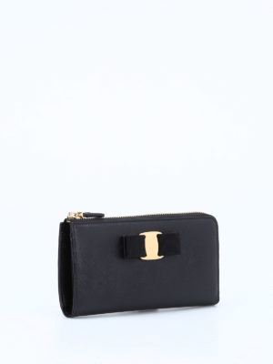 Salvatore Ferragamo: wallets & purses online - Vara bow leather wallet