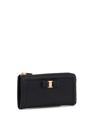 Salvatore Ferragamo: wallets & purses online - Vara bow leather zip around wallet