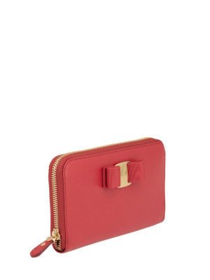 Salvatore Ferragamo: wallets & purses online - Zip around Vara wallet