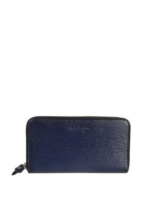 SALVATORE FERRAGAMO: portafogli - Portafoglio Organizer blu a due zip