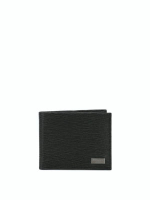 SALVATORE FERRAGAMO: portafogli - Portafoglio bi-fold in pelle stampata