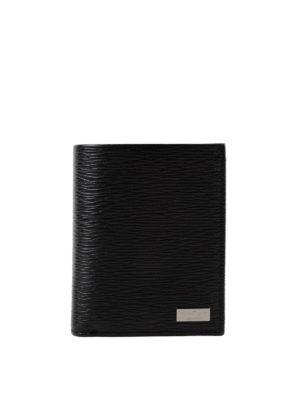 SALVATORE FERRAGAMO: portafogli - Portafoglio nero Revival con porta documento