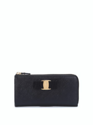 Salvatore Ferragamo: wallets & purses - Vara bow leather wallet