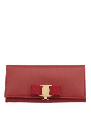 Salvatore Ferragamo: wallets & purses - Vara Continental leather wallet