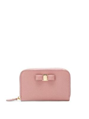 SALVATORE FERRAGAMO: portafogli - Portamonete in pelle rosa