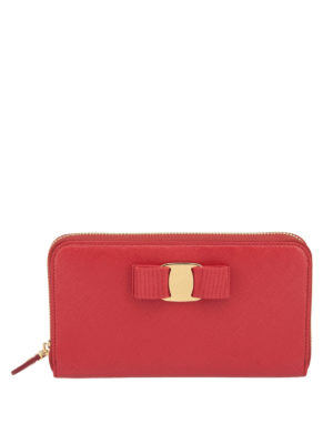 Salvatore Ferragamo: wallets & purses - Zip around Vara wallet