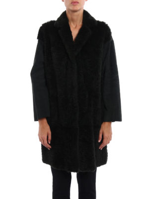 Salvatore Santoro: Fur & Shearling Coats online - Suede and lapin fur short coat
