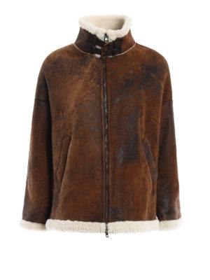 Salvatore Santoro: Fur & Shearling Coats - Shearling coat with zip and buckles