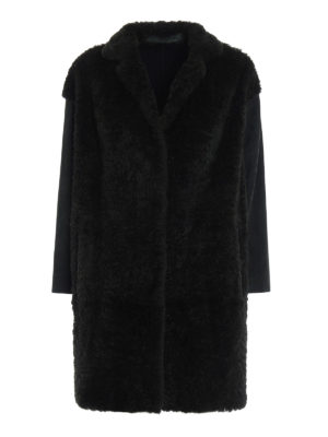 Salvatore Santoro: Fur & Shearling Coats - Suede and lapin fur short coat