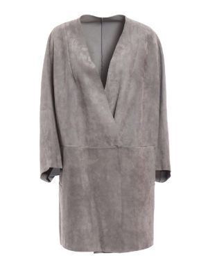 Salvatore Santoro: leather coats - Grey suede coat