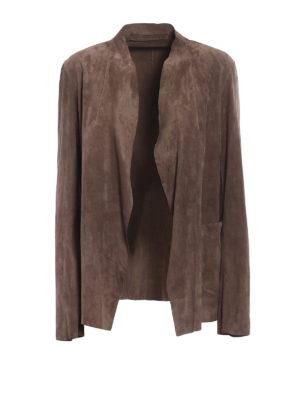Salvatore Santoro: leather jacket - Soft suede open front jacket