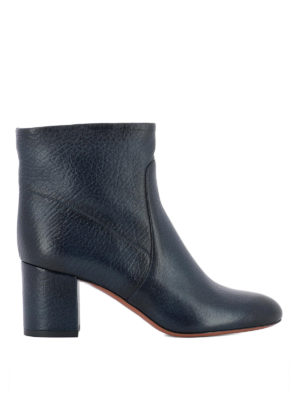 Santoni: ankle boots - Blue shaded leather ankle boots