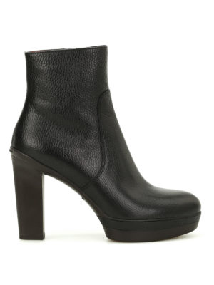 Santoni: ankle boots - Hammered leather booties