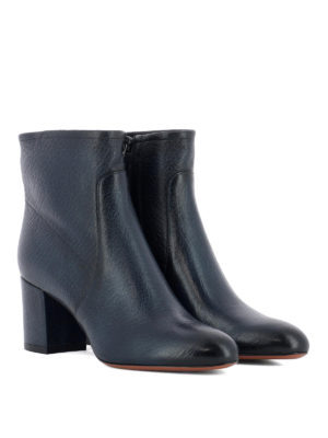 Santoni: ankle boots online - Blue shaded leather ankle boots
