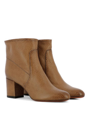 Santoni: ankle boots online - Shaded leather zipped ankle boots