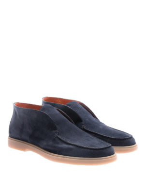 Santoni: ankle boots online - Suede slip-on ankle boots