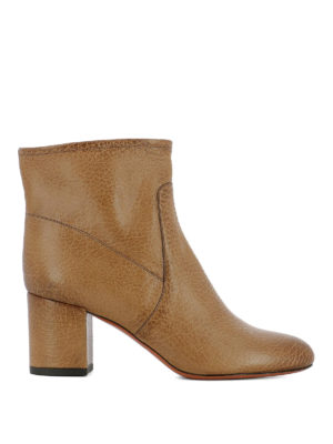 Santoni: ankle boots - Shaded leather zipped ankle boots