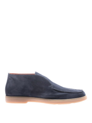 Santoni: ankle boots - Suede slip-on ankle boots