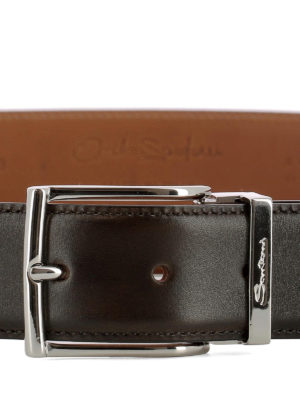 Santoni: belts online - Brown leather belt