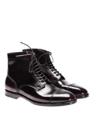 Santoni: boots online - Used effect leather boots