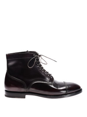 Santoni: boots - Used effect leather boots