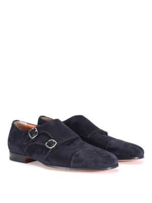 Santoni: classic shoes online - Suede monk strap shoes