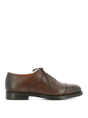 Santoni: classic shoes - Shaded brown leather Oxford shoes