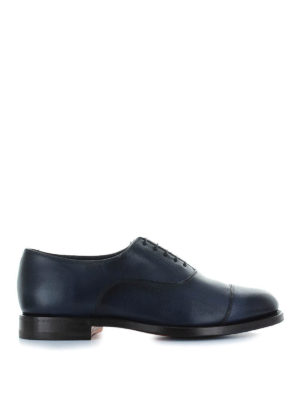 SANTONI: classiche - Oxford affusolate in pelle sfumata