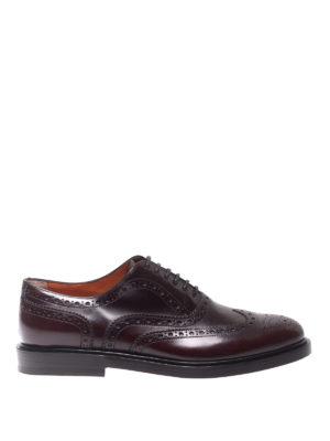 SANTONI: scarpe stringate - Brogue in vitello
