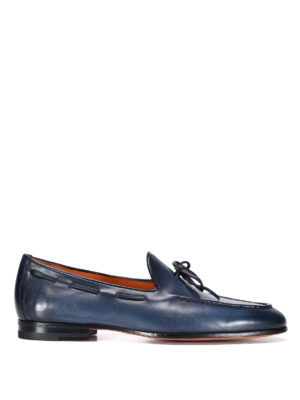 Santoni: Loafers & Slippers - Brushed leather classic loafers