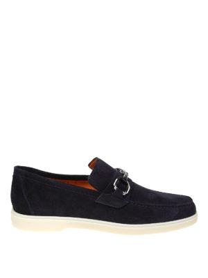 SANTONI  Mocassini e slippers - Mocassini in camoscio blu con morsetto 04375217bf3
