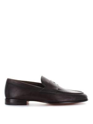 SANTONI: Mocassini e slippers - Mocassini College in pelle anticata