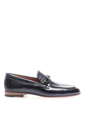Santoni: Loafers & Slippers - Horsebit blue leather loafers