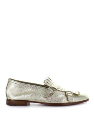 SANTONI: Mocassini e slippers - Mocassini affusolati pelle laminata