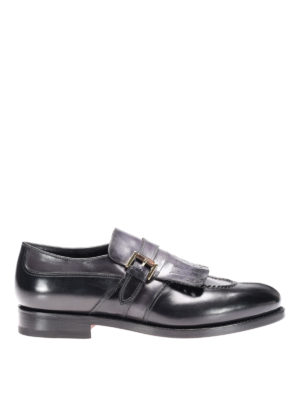 Santoni: Loafers & Slippers - Leather loafers with fringes