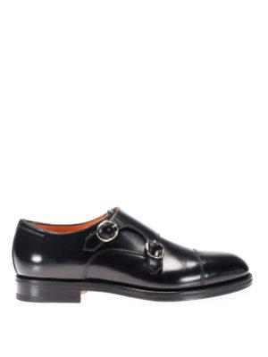 Santoni: Loafers & Slippers - Monk strap in pelle spazzolata