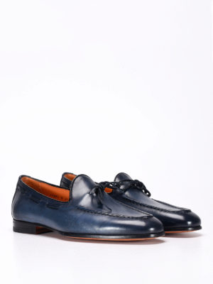 Santoni: Loafers & Slippers online - Brushed leather classic loafers