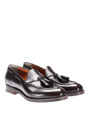 Santoni: Loafers & Slippers online - Brushed leather loafers