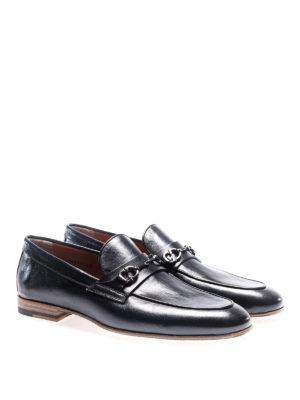 Santoni: Loafers & Slippers online - Horsebit blue leather loafers