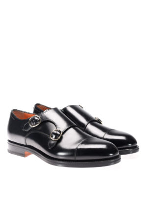 Santoni: Loafers & Slippers online - Monk strap in pelle spazzolata
