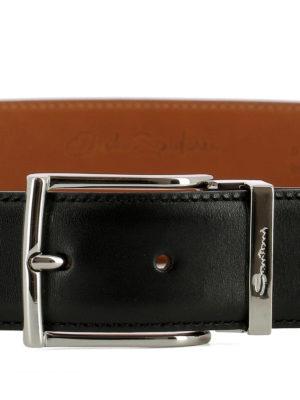 SANTONI: cinture online - Cintura in pelle nera